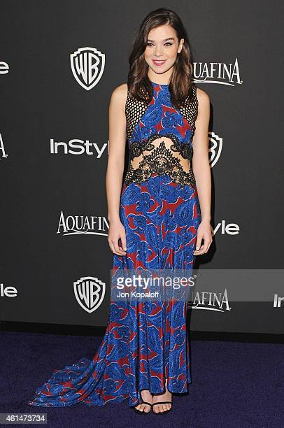 Actress Hailee Steinfeld arrives at the 16th Annual Warner Bros And InStyle PostGolden Globe Party at The Beverly Hilton Hotel on January 11 2015 in...