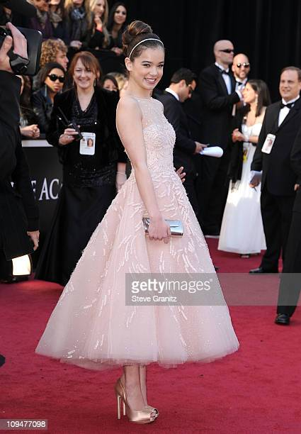 Actress Hailee Steinfeld arrives at the 83rd Annual Academy Awards held at the Kodak Theatre on February 27 2011 in Hollywood California