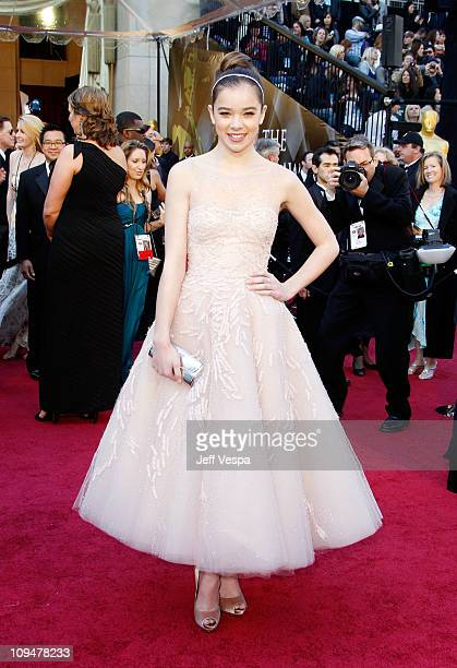 Actress Hailee Steinfeld arrives at the 83rd Annual Academy Awards held at the Kodak Theatre on February 27 2011 in Los Angeles California
