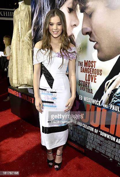 Actress Hailee Steinfeld arrives at the premiere of Relativity Media's 'Romeo And Juliet' at ArcLight Cinemas on September 24 2013 in Hollywood...