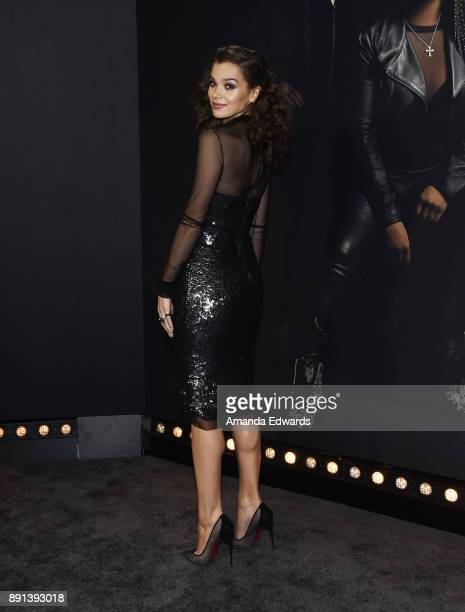 Actress Hailee Steinfeld arrives at the premiere of Universal Pictures' 'Pitch Perfect 3' on December 12 2017 in Hollywood California