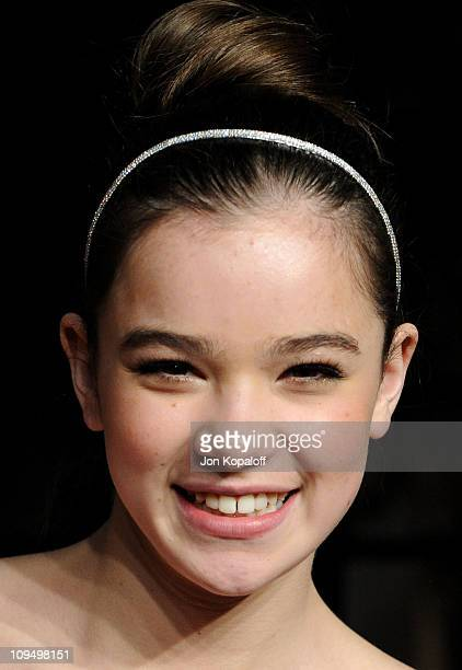 Actress Hailee Steinfeld arrives at the Vanity Fair Oscar Party held at Sunset Tower on February 27 2011 in West Hollywood California