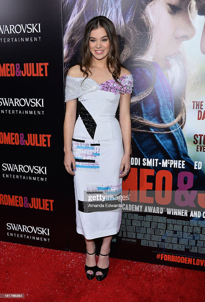 Actress Hailee Steinfeld arrives at the world premiere of 'Romeo and Juliet' at the ArcLight Hollywood on September 24, 2013 in Hollywood, California.