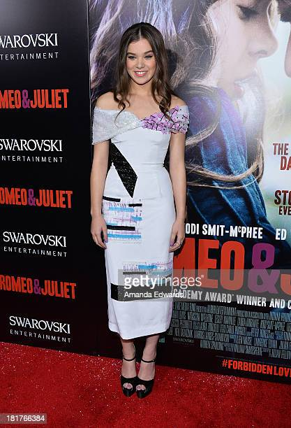 Actress Hailee Steinfeld arrives at the world premiere of 'Romeo and Juliet' at the ArcLight Hollywood on September 24 2013 in Hollywood California