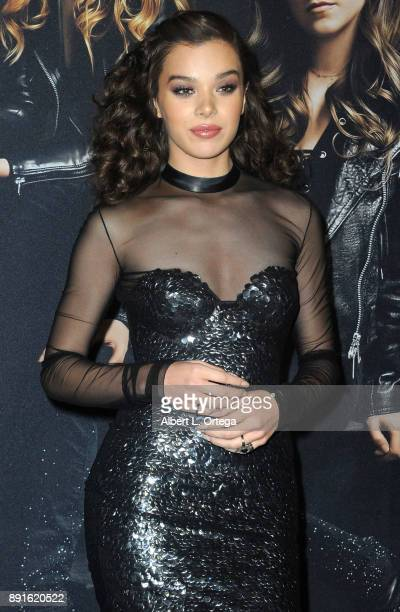 Actress Hailee Steinfeld arrives for the Premiere Of Universal Pictures' 'Pitch Perfect 3' held at The Dolby Theater on December 12 2017 in Hollywood...