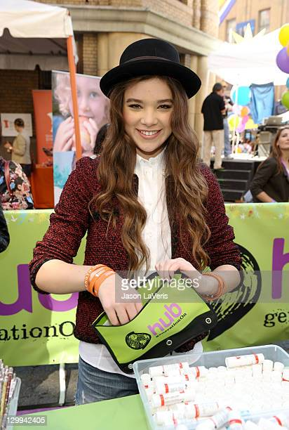Actress Hailee Steinfeld at the Hub booth during Variety's 5th annual Power Of Youth event presented by The Hub at Paramount Studios on October 22...