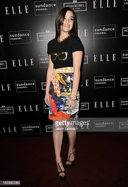Actress Hailee Steinfeld attends ELLE Sundance Channel's celebration of All On The Line With Joe Zee at Soho House on September 19 2012 in West...