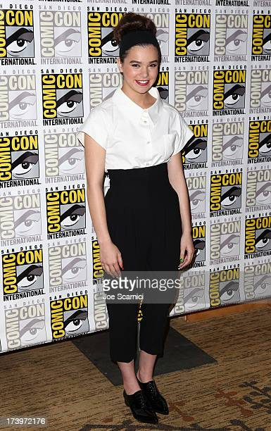 Actress Hailee Steinfeld attends Ender's Game ComicCon Press Line at San Diego Convention Center on July 18 2013 in San Diego California