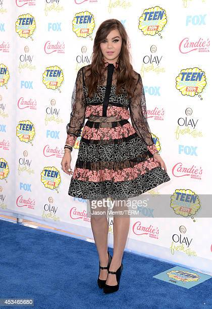 Actress Hailee Steinfeld attends FOX's 2014 Teen Choice Awards at The Shrine Auditorium on August 10 2014 in Los Angeles California