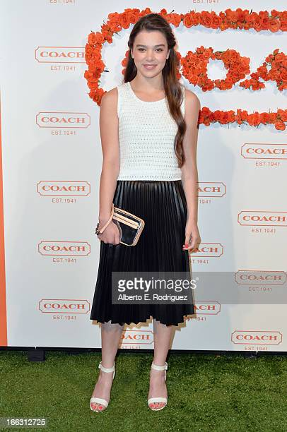 Actress Hailee Steinfeld attends the 3rd Annual Coach Evening to benefit Children's Defense Fund at Bad Robot on April 10 2013 in Santa Monica...