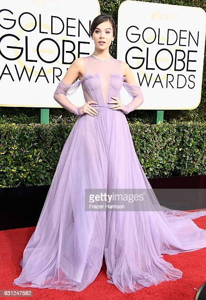 Actress Hailee Steinfeld attends the 74th Annual Golden Globe Awards at The Beverly Hilton Hotel on January 8 2017 in Beverly Hills California