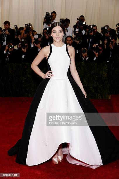 Actress Hailee Steinfeld attends the Charles James Beyond Fashion Costume Institute Gala at the Metropolitan Museum of Art on May 5 2014 in New York...