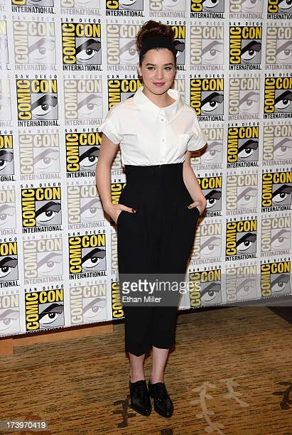 Actress Hailee Steinfeld attends the Ender's Game and Divergent press line during ComicCon International 2013 at the Hilton San Diego Bayfront Hotel...