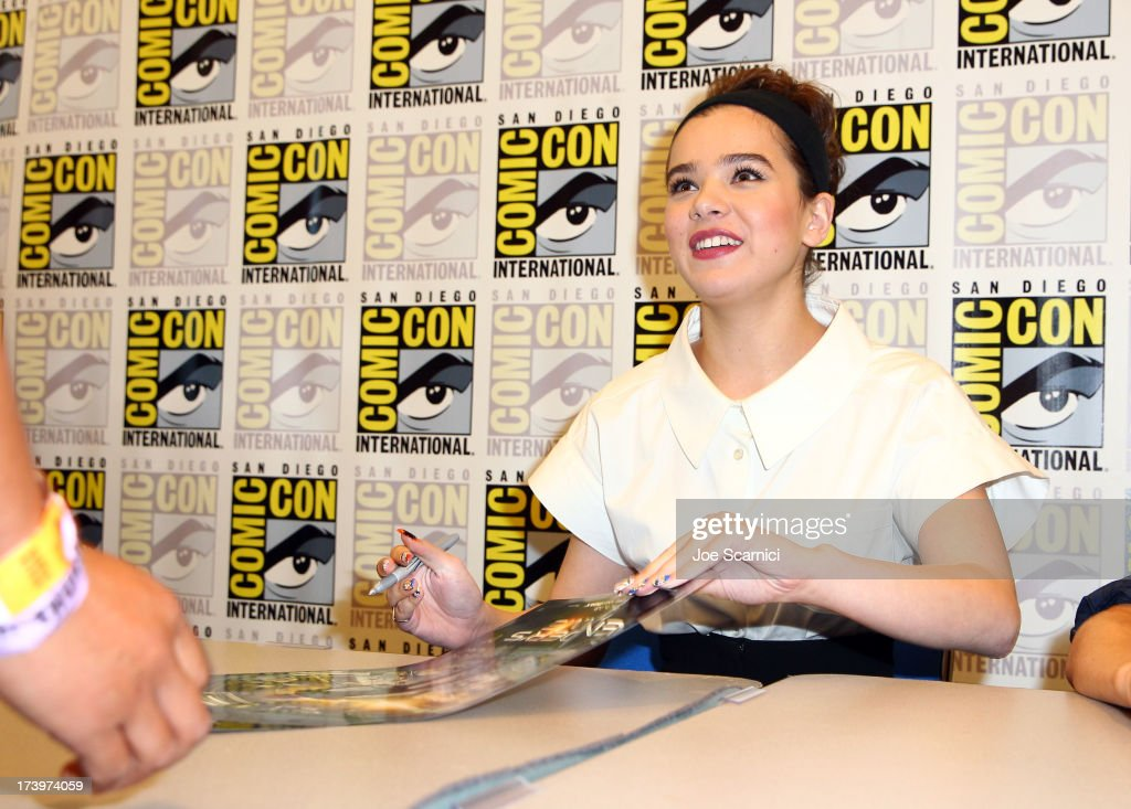 Actress Hailee Steinfeld attends the 'Ender's Game' cast autograph signing during Comic-Con International 2013 at San Diego Convention Center on July 18, 2013 in San Diego, California.