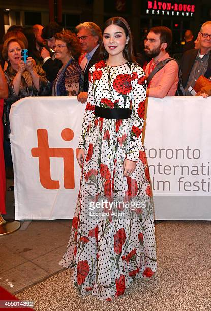 Actress Hailee Steinfeld attends The Keeping Room premiere during the 2014 Toronto International Film Festival at The Elgin on September 8 2014 in...