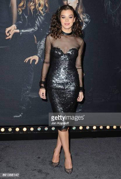 Actress Hailee Steinfeld attends the Los Angeles Premiere 'Pitch Perfect 3' at the Dolby Theatre on December 12 2017 in Hollywood California