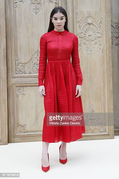 Actress Hailee Steinfeld attends the Valentino show as part of the Paris Fashion Week Womenswear Spring/Summer 2017 on October 2 2016 in Paris France