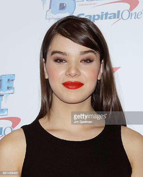Actress Hailee Steinfeld attends the Z100's Jingle Ball 2015 kick off event at Macy's Herald Square on October 5 2015 in New York City