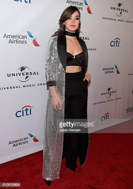 Actress Hailee Steinfeld attends Universal Music Group 2016 Grammy After Party presented by American Airlines and Citi at The Theatre at Ace Hotel...