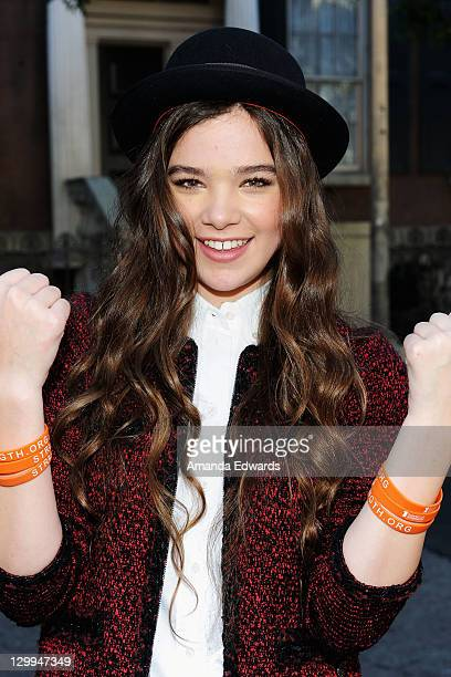 Actress Hailee Steinfeld attends Variety's 5th annual Power Of Youth event presented by The Hub at Paramount Studios on October 22 2011 in Hollywood...