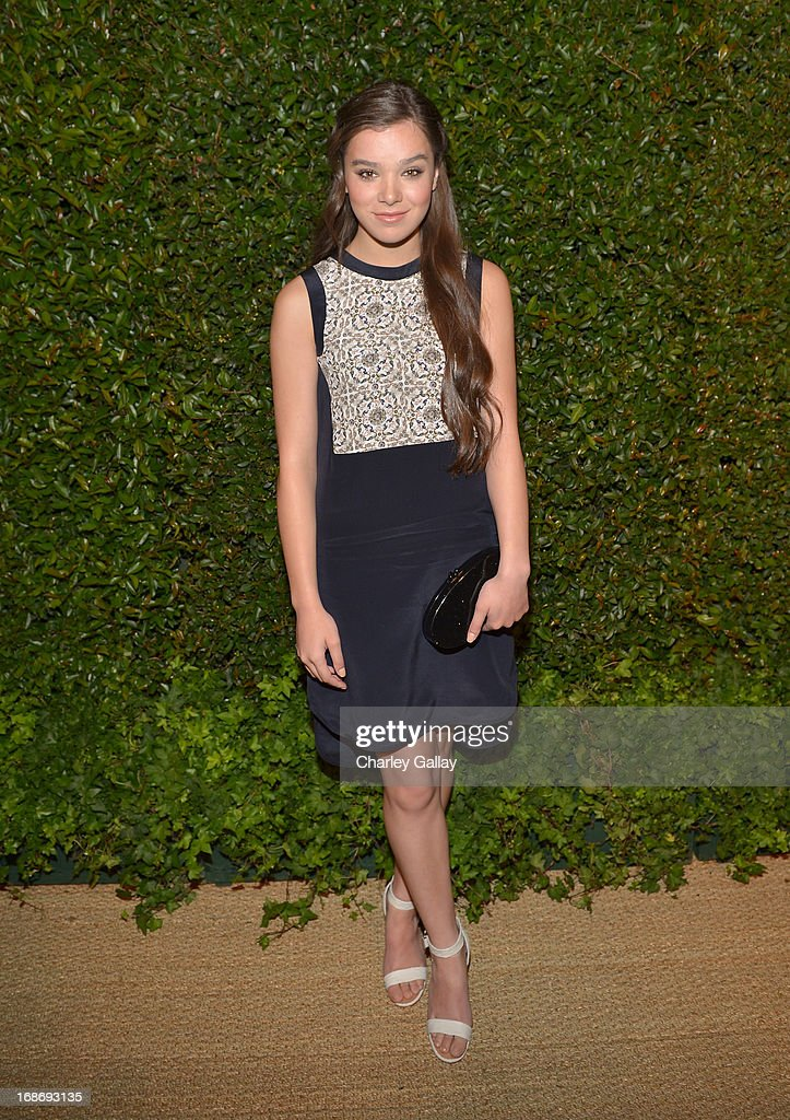 Actress Hailee Steinfeld attends Vogue and MAC Cosmetics dinner hosted by Lisa Love and John Demsey in honor of Prabal Gurung at the Chateau Marmont on Monday, May 13, 2013 in Los Angeles, California.
