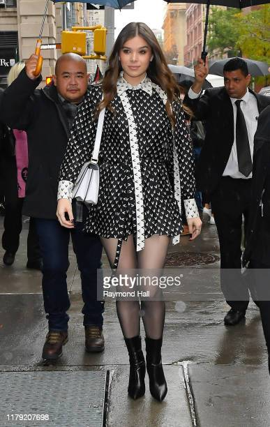 Actress Hailee Steinfeld is seen outside Build studio on October 31, 2019 in New York City.