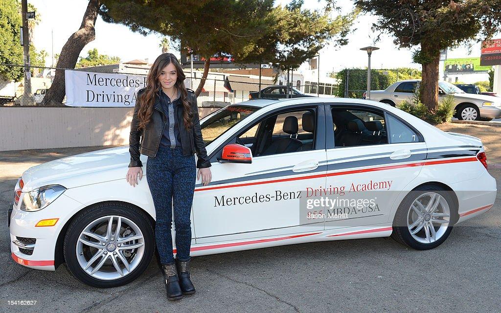 Actress Hailee Steinfeld, Mercedes Benz Driving Academy Student U0026 Safe Teen  Safe Driving Advocate