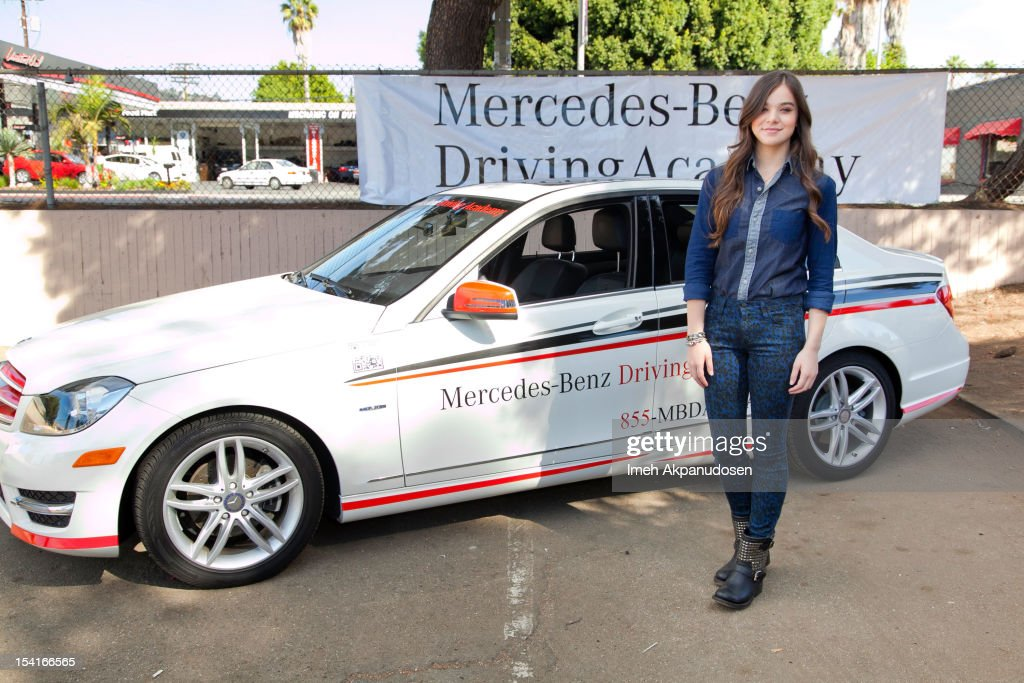 Exceptional Actress Hailee Steinfeld MercedesBenz Driving Academy Student Safe Teen  Safe Driving Advocate Participates In The Kickoff