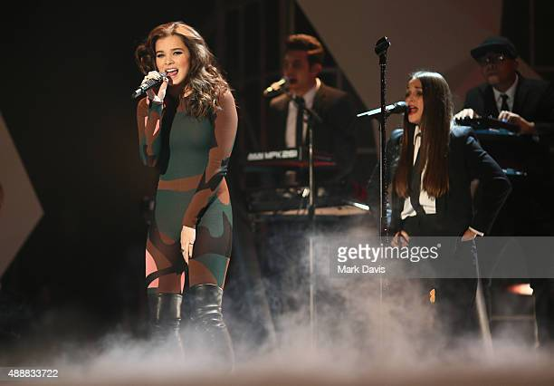 Actress Hailee Steinfeld performs at VH1's 5th Annual Streamy Awards at the Hollywood Palladium on Thursday September 17 2015 in Los Angeles...