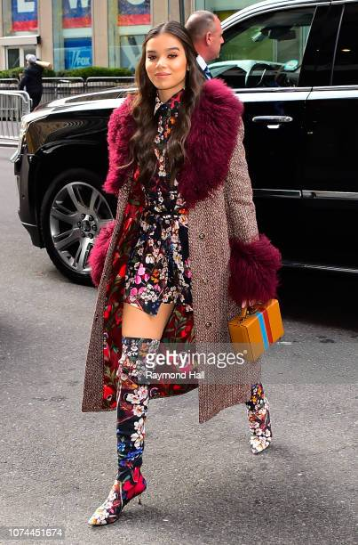 Actress Hailee Steinfeld seen outside a radio show on December 20, 2018 in New York City.