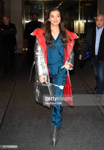 Actress Hailee Steinfeld seen outside Today Show on December 18 2018 in New York City