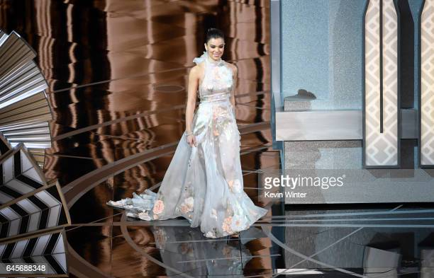 Actress Hailee Steinfeld walks onstage during the 89th Annual Academy Awards at Hollywood Highland Center on February 26 2017 in Hollywood California