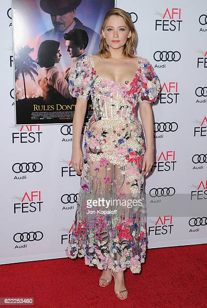 Actress Haley Bennett arrives at AFI FEST 2016 Presented By Audi Opening Night Premiere Of 20th Century Fox's Rules Don't Apply at TCL Chinese...
