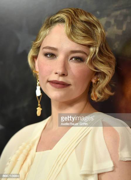 Actress Haley Bennett arrives at the premiere of DreamWorks Pictures and Universal Pictures' 'Thank You for Your Service' at Regal LA Live Stadium 14...