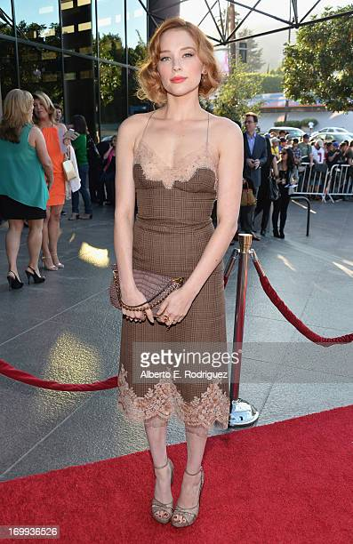 """Actress Haley Bennett arrives to the Los Angeles premiere of A24's """"The Bling Ring"""" at Directors Guild Of America on June 4, 2013 in Los Angeles,..."""