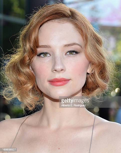 Actress Haley Bennett arrives to the Los Angeles premiere of A24's 'The Bling Ring' at Directors Guild Of America on June 4 2013 in Los Angeles...