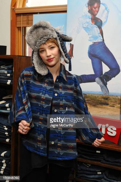 Actress Haley Bennett attends Levi's Showroom in Park City on January 22 2011 in Park City Utah