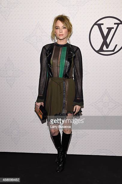 Actress Haley Bennett attends Louis Vuitton Monogram celebration at Museum of Modern Art on November 7 2014 in New York City