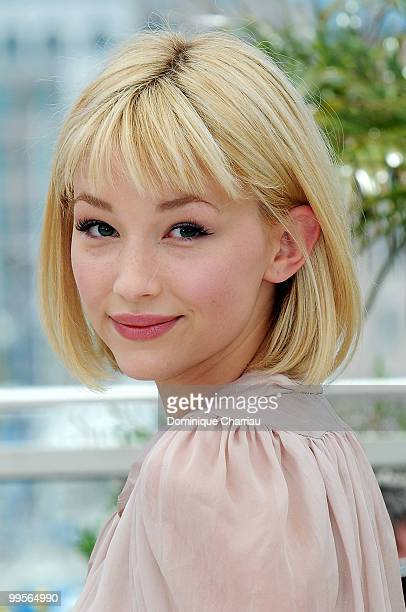 Actress Haley Bennett attends the 'Kaboom' Photo Call held at the Palais des Festivals during the 63rd Annual International Cannes Film Festival on...