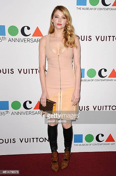 Actress Haley Bennett attends the MOCA 35th anniversary gala celebration at The Geffen Contemporary at MOCA on March 29 2014 in Los Angeles California