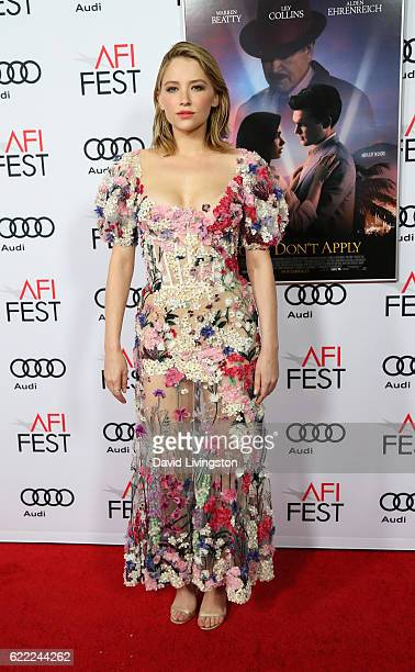 Actress Haley Bennett attends the premiere of Rules Don't Apply at AFI Fest 2016 presented by Audi at TCL Chinese Theatre on November 10 2016 in...