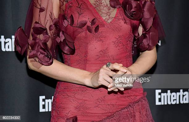 Actress Haley Bennett jewelry detail attends Entertainment Weekly's Toronto Must List party at the Thompson Hotel on September 10 2016 in Toronto...