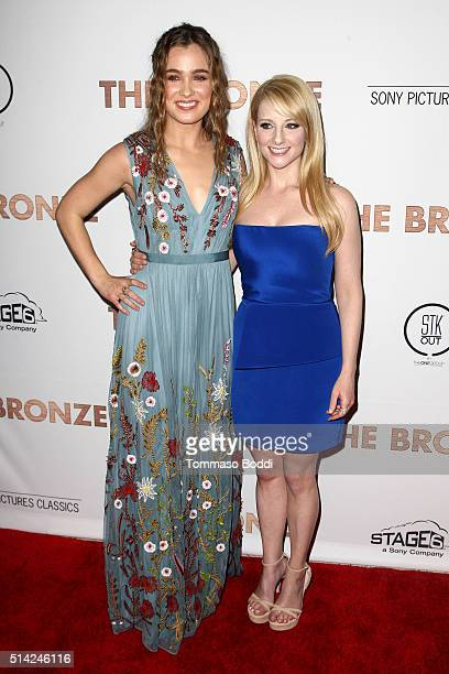 Actress Haley Lu Richardson and Melissa Rauch attend the premiere of Sony Pictures Classics' 'The Bronze' held at SilverScreen Theater at the Pacific...