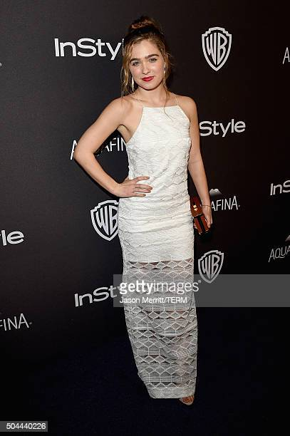 Actress Haley Lu Richardson attends The 2016 InStyle And Warner Bros. 73rd Annual Golden Globe Awards Post-Party at The Beverly Hilton Hotel on...