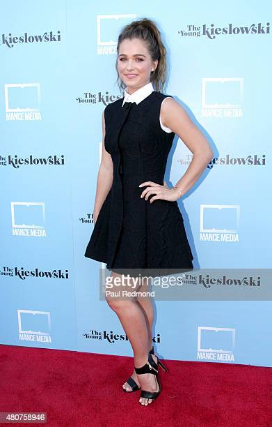 Actress Haley Lu Richardson attends the screening of Mance Media's 'The Young Kieslowski' at the Vista Theatre on July 14 2015 in Los Angeles...