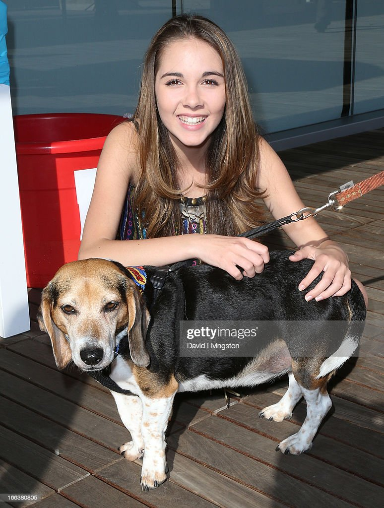 Actress Haley Pullos attends peta2's 'Blankets for Shelters' drive at the Bob Barker Building on April 11, 2013 in Los Angeles, California.