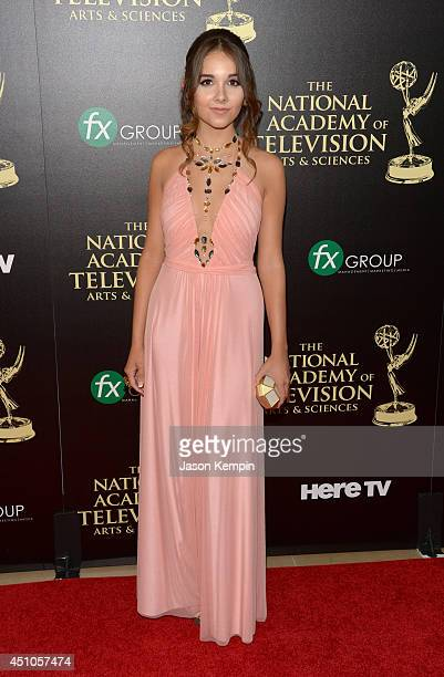 Actress Haley Pullos attends The 41st Annual Daytime Emmy Awards at The Beverly Hilton Hotel on June 22 2014 in Beverly Hills California