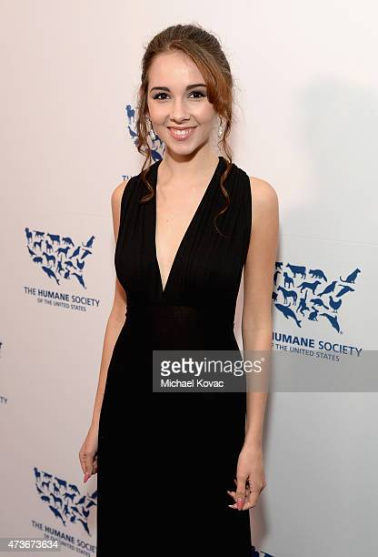 Actress Haley Pullos attends The Humane Society Of The United States' Los Angeles Benefit Gala at the Beverly Wilshire Hotel on May 16 2015 in...
