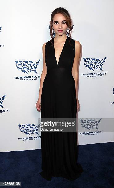 Actress Haley Pullos attends the Humane Society of the United States' Los Angeles Benefit gala at the Regent Beverly Wilshire Hotel on May 16 2015 in...