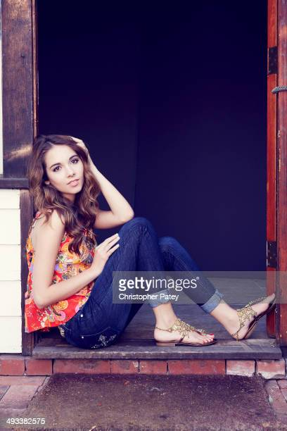 Actress Haley Pullos is photographed for Self Assignment on March 26 2013 in Los Angeles California
